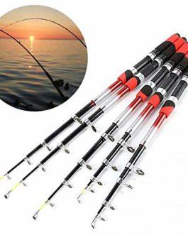 1.8M 2.1M 2.4M 2.7M 3.0M 3.6M 4.5M pêche télescopique Portable en Verre Rod Fibre Canne à pêche Mer Voyage Pêche Spinning Rod