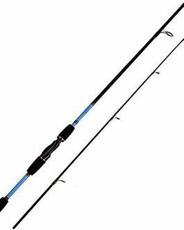 1.8M Rods pêche Carbone Spinning Canne à pêche Canne à pêche Spinning 2 Section Lure Casting Pole