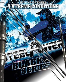 2 pcs. DAM Steelpower BLACK Surf, up to 250g – Canne surf (paquet double)
