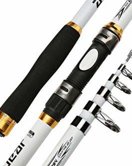 2,1M -3.6M Pêche à la Carpe Chargeur Rod Dur FRP en Fibre de Carbone télescopique pêche à la Canne à pêche Canne