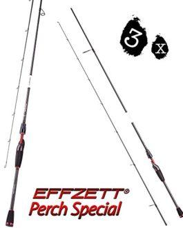 3Pcs. Dam effzett Perch Special, 1,90m, 1-6g, 2pièces, bar Sch Canne à pêche