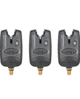 3x de pêche Bite alarme Indicateur avec 8Direction LED résistant à l'eau pour pêche à la carpe