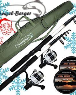 Angel berger campo24 set de pêche complet avec 2 roulettes pour 2 teleskopruten