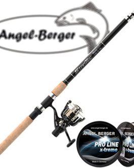 Angel Berger Set de pêche avec perche télescopique, moulinet et fil