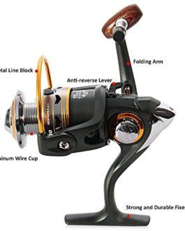 BNT Bobine de pêche de roche de bateau 11BB 5.2: 1 Bobine de pêche de roue de pêche de carpe 1000 2000 3000 4000 5000 6000 série (1000 Series)