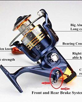 BNTTEAM 11BB Système de Frein arrière Avant Taille d'embrayage unidirectionnelle 1000-7000 Rouleau en métal Plein Spinning Rouleau de pêche Roue de Carpe Pêche