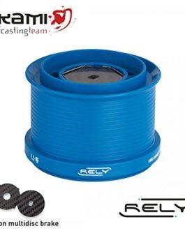 Bobine de rechange RELY UL couleur Blue pour moulinets akami Shimano en téflon (Red)
