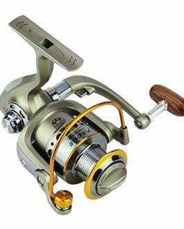 CIELLTE Moulinet de Pêche Pescaria Molinete LC1000-7000 Series 5.5: 1 Carretilhas YUMOSHI Tête en Métal Moulinet de Pêche 12 Axes Engins de Pêche Moulinet