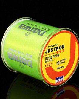 CUSHY 500m Nylon Ligne de pêche Japonaise Durable Monofilament Rocher Ligne de pêche Daiwa Fil en Vrac Bobine Tous Taille 4 Couleurs 0,4 à 8,0: Jaune Fluorescent, 8,0