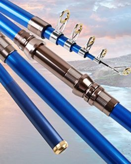 Canne à Pêche Poteau de Mer Super-dur 2,1 Mètres 2,4 Mètres 2,7 Mètres 3,0 Mètres 3,6 Mètres Coulée Lance-cannes Carbone