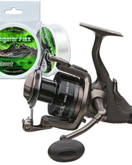 DAM quick nBG 555 fS moulinet de pêche avec alligator flex 0,35 mm