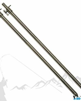 DD-Tackle Lot de 2 bâtons de Banc en Acier Inoxydable 30-50 cm