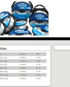 Daiwa Clear Capteur monofil 300m bobine toutes les tailles Charge maximale = 4,5kg