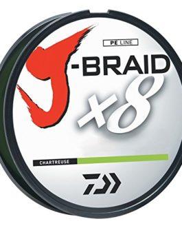 Daiwa J-Braidx8 JB8U6-300CH 1.5 lbs Test, Chartreuse Filler Spool