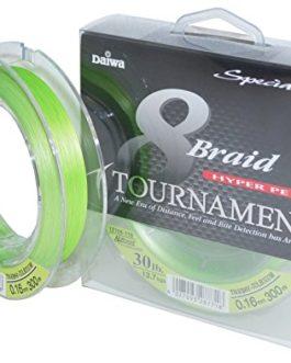Daiwa tournament 8 braid chartreuse-fil de pêche – 300 m fil tressé