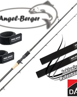Dam effzett Nova Cast Bait Cast Spin Canne à pêche avec bande Angel Berger Canne à pêche