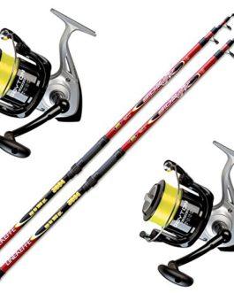Evo fishing Kit canne surfcasting 2Sidney 3,50m 150gr + 2Moulinet trabucco Dayton 6500