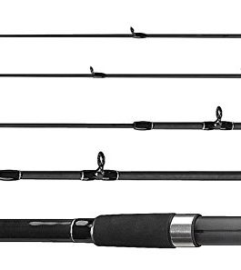 FLADEN 12-63360 ECO FEEDER Canne à pêche en composite à 3sections à bouton poussoir Idéal pour la pêche sur le fond 3,6m