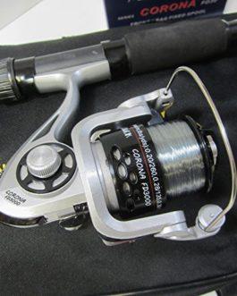 FTD Kit de pêche complet pour enfant avec canne à pêche, bobine, moulinet et sac