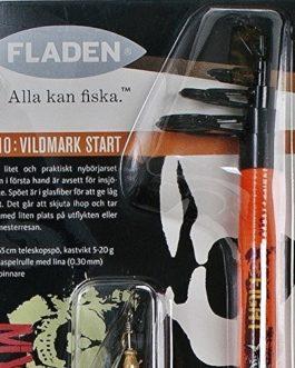 Fladen Deadly Combo–de pêche télescopique 1,65cm Canne et moulinet, ligne Leurre et Spinner (Vert, Orange, Rose)–Idéal pour introduction Starter Set