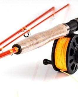 Fladen Pêche Warbird 6WT Fly (3sections) Carbone Canne à pêche et moulinet et ligne de–2.7m/2,7m Vantage Carbon Rod et [assorti 12K-8016]