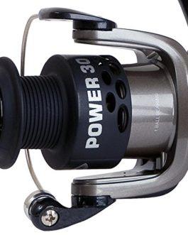 Fladen Power 140/150/160(1BB) Gris/Noir à bobine fixe Moulinet à frein arrière–Idéal pour bobine (Gris & Noir)