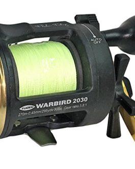 Fladen Warbird 2020-1à roulement à Billes Mer et la pêche à la traîne Moulinet multiplicateur avec Niveau Vent (livré avec Tresse de 0,28mm Line–Vert ou doré) Un Excellent Tous Les Rounder