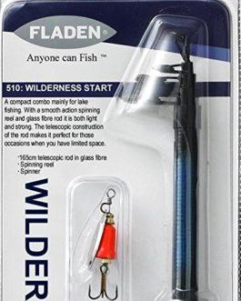 Fladen Wilderness Kit de pêche Combo télescopique–1,65cm Canne et moulinet, ligne Leurre et Spinner–Idéal pour l'Initiation de [12K-510]