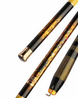HYYQG Canne à PêChe TéLescopique à Haute Teneur en Carbone Canne à PêChe Portable Ultralight Pole Stream Rod Carpe De PêChe 3.6-6.3 M