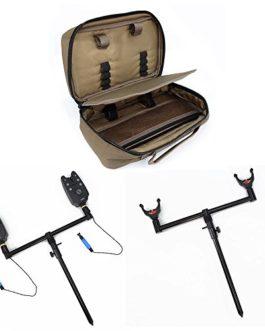 Hirisi Tackle – Kit d'accessoires pour pêche à la carpe – Avec porte-canne, buzz bar, pique, écureuil et alarme
