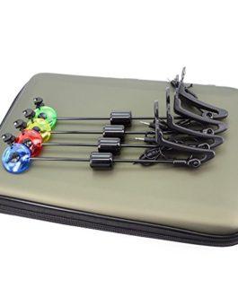 Hirisi Tackle® 4pcs Pêche Détecteur Indicateur Alarme Touche Morsure LED Lumineux pour les Pêcheurs