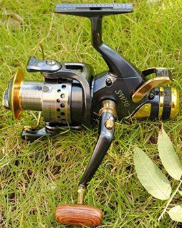 Hirisi Tackle Moulinet débrayable de pêche à la carpe en métal Poignée interchangeable