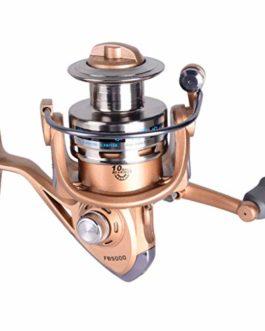 KY Moulinet de pêche Moulinet de pêche à tête métallique, 10 Axes, Moulinet de pêche à la daurade, Moulinet de pêche