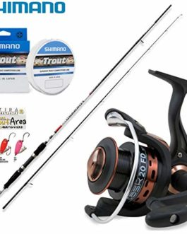 Kit Trout Zone Special Price, Spinning Rapid Freshwater Canne + Moulinet Vigor Task FD 2000 + Trois Spoon Nomura Akira 2,0 GR + monofilament Shimano Trout Competition 150 MT