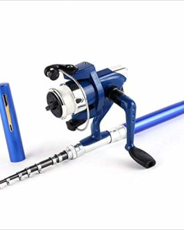 Kurphy Super Lightweight Portable Pen Rod Fishing Set Mini Telescopic Fishing Rod Pole + Reel Pocket Fishing Reel Accessories