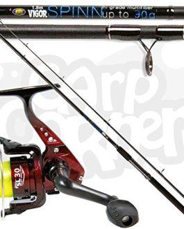 LINEAEFFE SL30 1BB moulinet avec VIGOR 1.8m M / 6ft SPIN FLOTTEUR Canne à pêche 30g Action