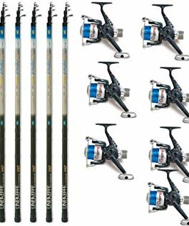 Linea-effe Kit 10Cannes Delta + 10moulinets New Kit 10Bolognaise De 4MT Delta Action 5–20GR. + 10Moulinet Shiver 30