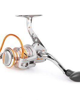Lixada 10 + 1 BB Moulinet de Pêche Gauche / Droit Interchangeable Poignée Pliable Pêche Spinning Reel Ultra Léger Lisse Spin Reel