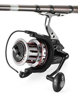 Lixada 11 + 1BB Roulements à Billes 4,7: 1 Gauche / Droite Tuyau Repliable Tondeuse à Pêche Mental Spool Fishing Reel