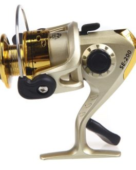 Lixada 3BB roulements a billes gauche / droite interchangeable Poignée pliable moulinet spinning SE200 5.2:1 pour la pêche or