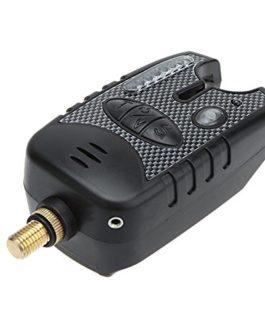 Lixada 8 LED Alerte sonore Indicateur Résistant à l'eau réglable Volume de la tonalité Sensibilité Alerte sonore pêche morsure alarme pour Fishing Rod