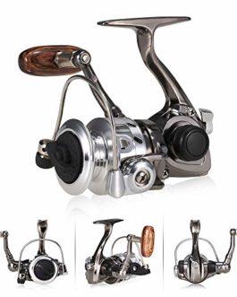 Lixada! Moulinet de Mini pour la pêche au Lancer 4BB 5.0: 1, Moulinet de pêche en métal Ultra Lisse et Ultra Lisse