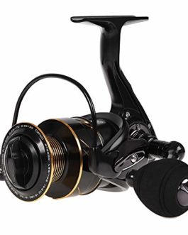 Lixada Moulinet de pêche,13bb + 1 roulement à Billes métal Roue de pêche à la Roche Bateau à Moulinet avec Bobine supplémentaire