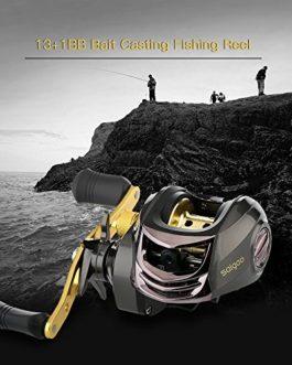 Lixada Roue à Pêche à l'arracher Saigao 6.3: 1 Rapport d'engrenage 13 + 1BB Rouleau de Pêche à charnière gauche / droite à l'appât 5.5KG