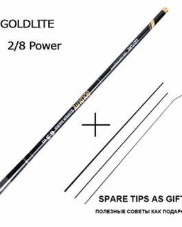 Love essentials Fishing rod Canne à pêche télescopique 3,6-7,2 m 2/8 en Fibre de Carbone Dur pour pêche à la Carpe, 1 Canne + 3 Embouts