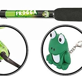 Matt Hayes Adventure (1.8m/6ft) KIDS FROGGA Fish4Fun Telescopic Rod / Matching Reel / Training Weight / Guide Book Fishing Combo – Ideal introduction set for young kids [12MH-512F] by FLADEN
