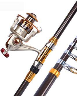 Miao Canne à pêche, Long, prise de vue en métal Pêche de roue Super rigide Mer Pôle de pêche Gear Combinaison