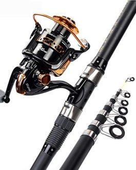 Miao Canne à pêche, Super rigide Carbone Mer Ensemble tringle Couvre-lit Pole Fournitures de pêche Pêche Pêche Gear