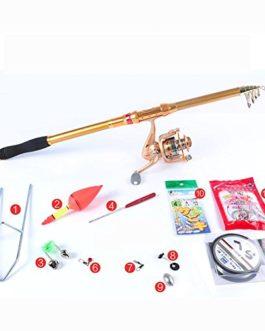 Miao Canne à pêche, Super rigide Carbone en métal Poisson rond Far Pole Ensemble tringle à la mer