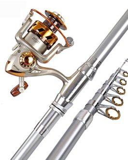 Miao Canne à pêche, Super rigide Long Shot Couvre-lit Pole Mer Pôle de pêche Gear Combinaison